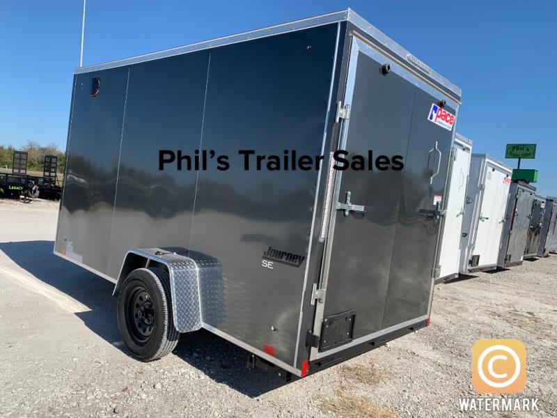6X12 + 2 v nose  Pace 6'6' Charcoal  interior Cargo / Enclosed Trailer