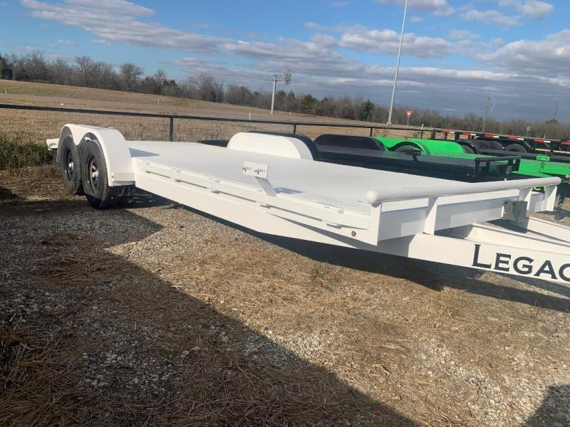 CAR HAULER WHITE  STEEL FLOOR 83X20 CAR HAULER