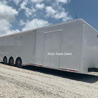 34 ' Continental Cargo WHITE OUT  ELECTRIC AWNING WHEEL WELL CABINET AUTOMASTER Car / Racing Trailer