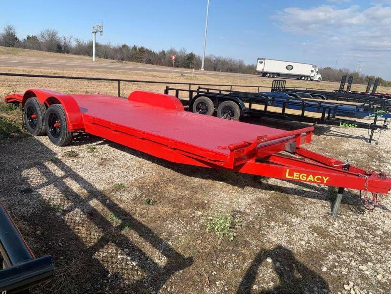 CAR HAULER RED  STEEL FLOOR 83X20 CAR HAULER