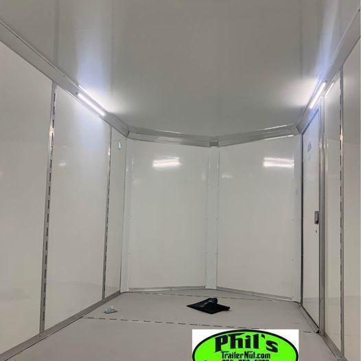2022 7x14 10 YEAR WARRANTY RAMP INTERIOR STEEL MOD Enclosed Cargo Trailer