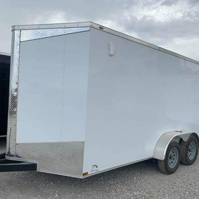 "UPGRADED 7x16 + 2 v 6'8"" Enclosed trailer Cargo / Enclosed Trailer"
