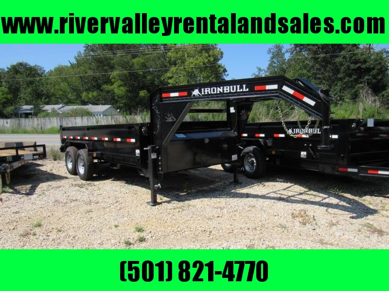 "2019 Iron Bull 83"" x 16' Gooseneck Low Pro Dump Trailer"