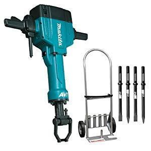 Makita 70 lb. AVT Breaker Hammer - Cart - 4 Chisels