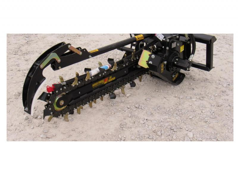 """Trencher Attachment - 4' x 6"""" for Skid Loader"""