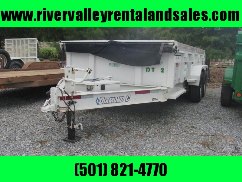 RENTAL - 2016 14' x 82 Diamond C Dump Trailer - FOR RENT
