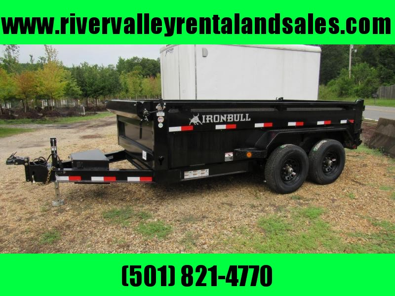 "RENTAL - 2020 Iron Bull 72"" x 12' Low Pro Dump Trailer"