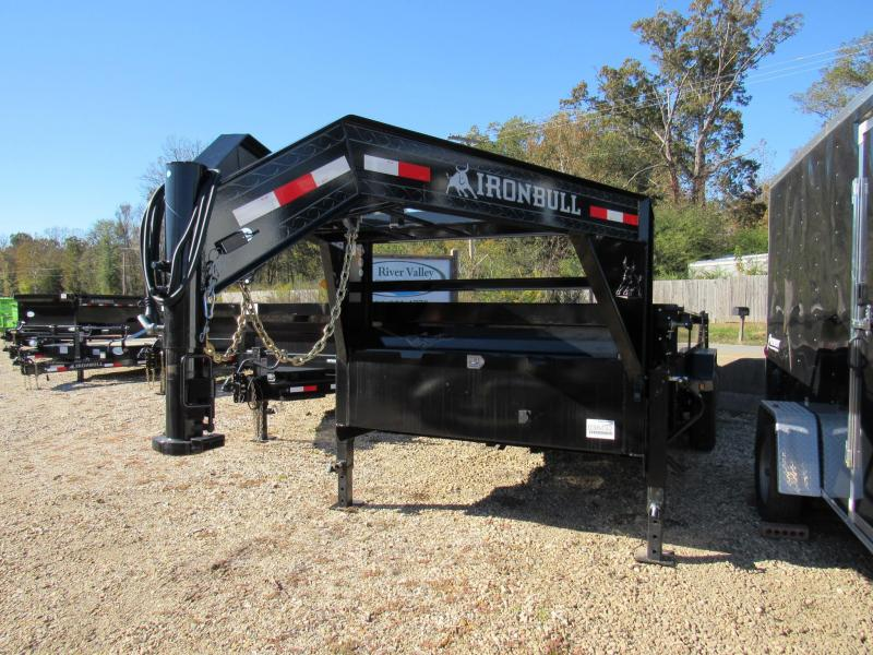 "2020 Iron Bull 83"" x 16 Gooseneck Low Pro Dump Trailer"