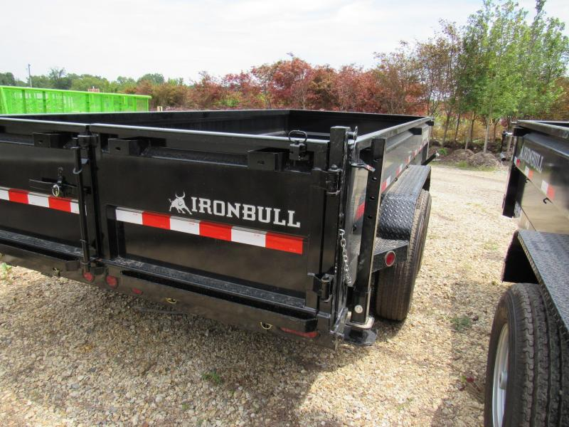 "2019 Iron Bull 83"" x 16' Low Pro Dump Trailer"
