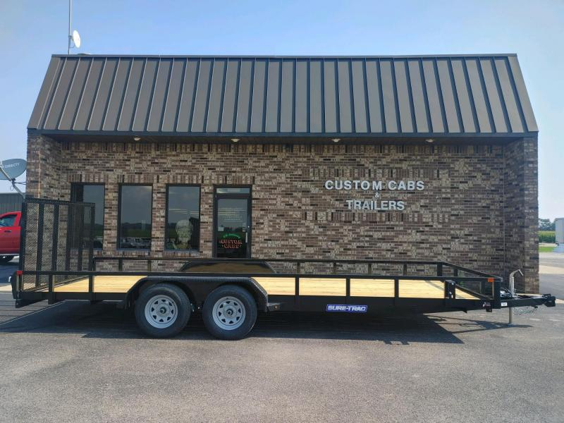 2022 Sure-Trac 7 x 20 Tube Top Utility Trailer  7K Tand