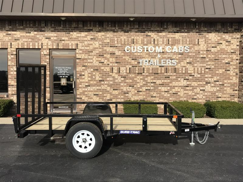 2021 Sure-Trac 6' x 10' Tube Top Flatbed Trailer  3K Idle