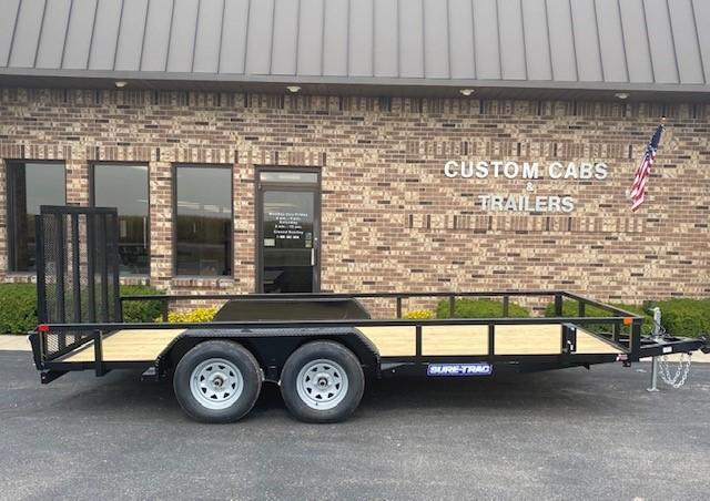 2021 Sure-Trac 7' x 16' Tube Top Flatbed 7K