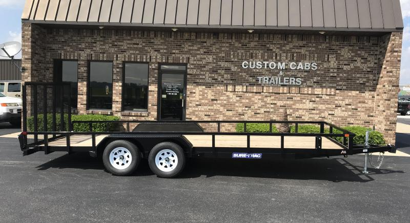 2021 Sure-Trac 7' x 20' Tube Top Utility Trailer  7K Tand