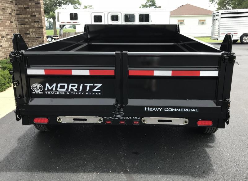 "2021 Moritz International 6'10"" x 12' Dump Trailer"