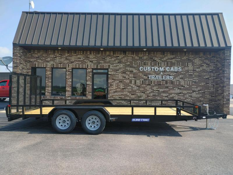2022 Sure-Trac 7 x 18 Tube Top Utility Trailer  7K Tand
