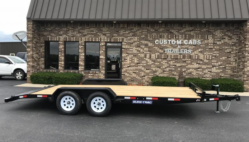 2020 Sure-Trac 18' Wood Floor Car Trailer