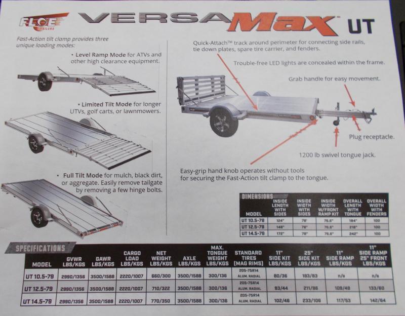 2021 Floe VM-UT 14.5-79 Utility Trailer