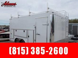 2020 Bravo 8.5 x 16 Enclosed Contractor Trailer