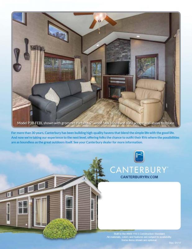 2022 Canterbury Parkvue P38-CKL-SL Park Model RV