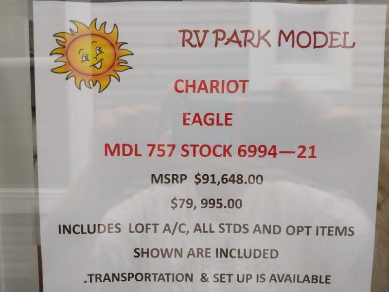 2022 Chariot Eagle Eagle Series, -Model 756 400 sq.ft. plus a double loft.