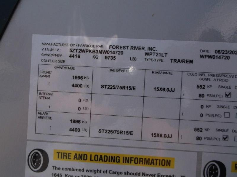 2021 Forest River UTWP5736-21 21LT