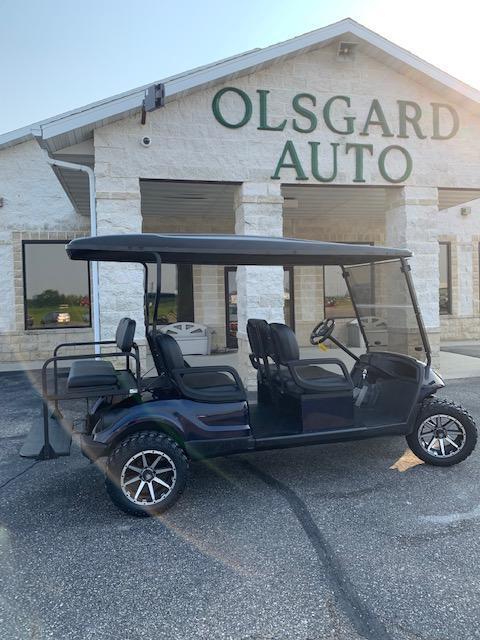 """2012  Yamaha  """"Limo"""" Gas Golf Cart - Blue $9420  L-1"""