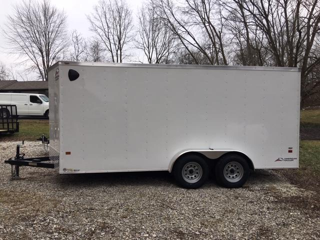 "ENCLOSED CARGO TRAILER 7'X 16' + 6"" WHITE - RAMP DOOR"