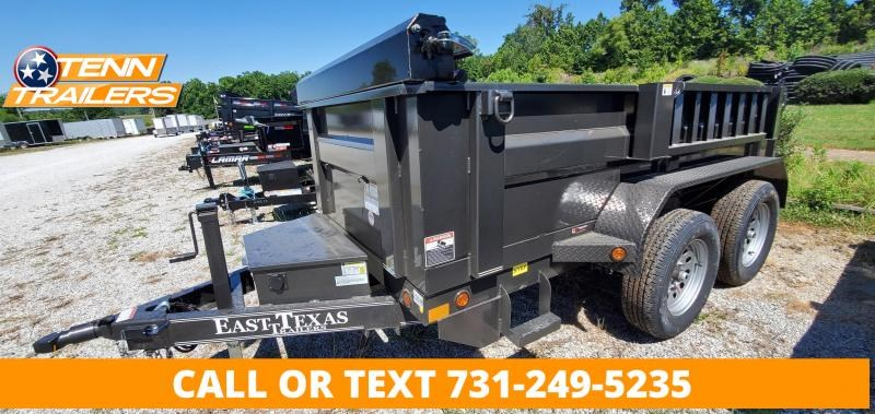 """2021 East Texas 60"""" x 10' Dump Trailer With 2-3.5K Axles and 24"""" SIdes"""