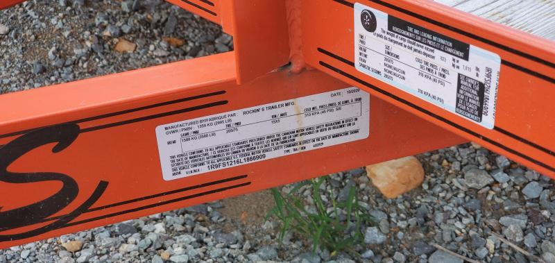 REPO: 2020 Rockin' S 6' X 12' Single Axle Utility Trailer