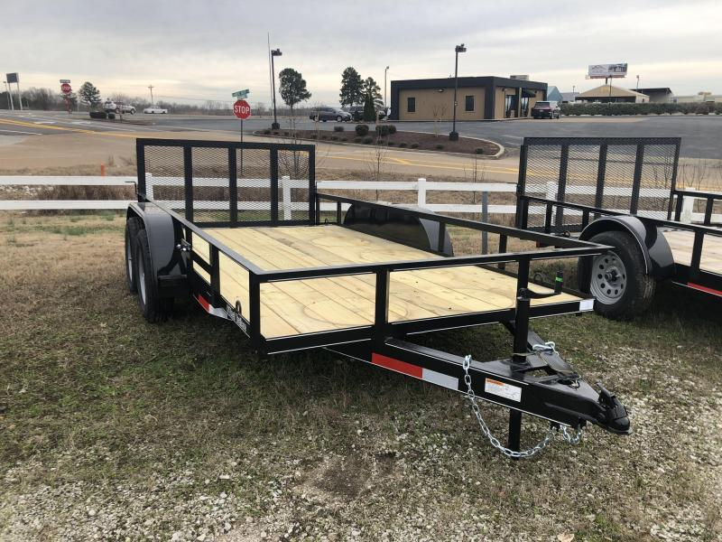 """2021 ONeal 6'4"""" x 14' Tandem Utility Trailer"""