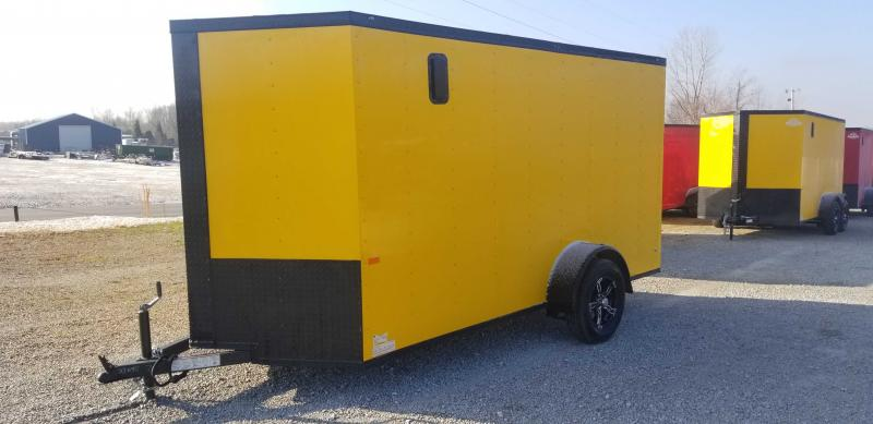 2021 Rock Solid Cargo 6' X 12' Single Axle Enclosed Cargo Trailer W Blackout Package
