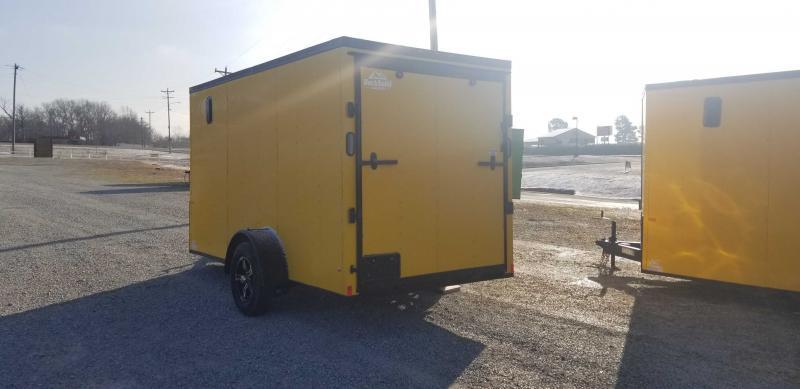 2021 Rock Solid Cargo 6' X 12' Single Axle Enclosed Cargo Trailer W Blackout Package