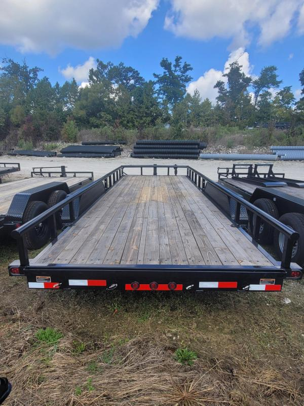 """2022 Load Trail 83"""" x 20' Equipment Trailer With Side Rails and Slide in Ramps"""