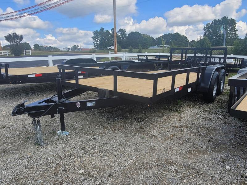 "2021 L&O Manufacturing 6'4"" x 16' Tandem Axle Utility Trailer"