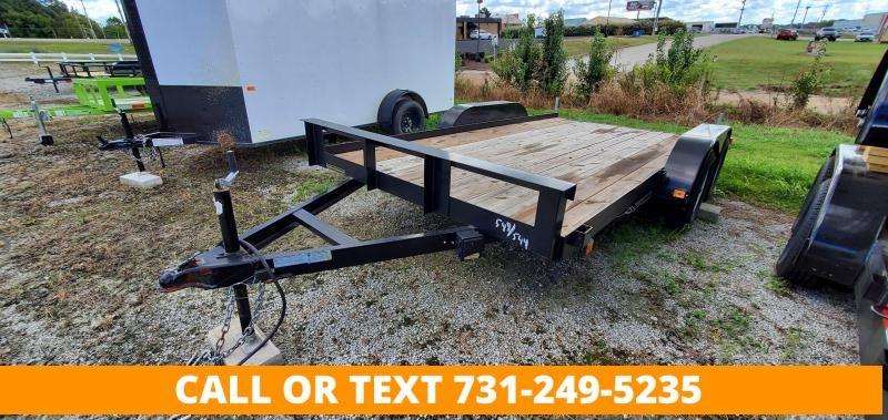 2017 Leonard 7' x 14' Straight Deck Tandem Axle Utility Trailer