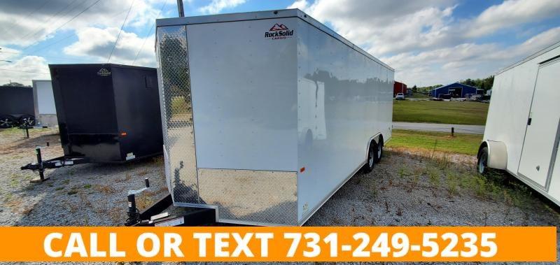 2021 Rock Solid Cargo 8.5'x20' Tandem Axle Enclosed Cargo Trailer With Barn Doors