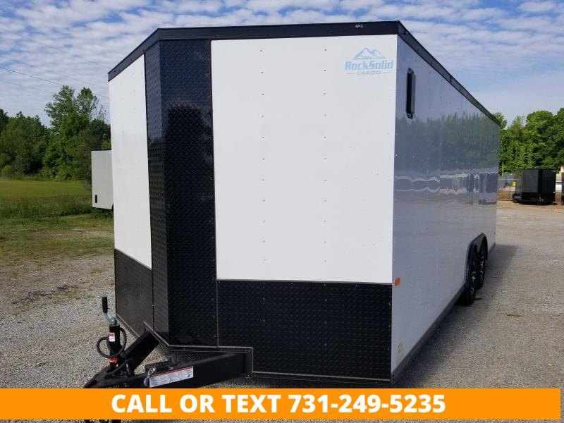 """2022 Rock Solid Cargo 8.5' X 20' Tandem Axle Black Out Enclosed Cargo Trailer with 6"""" additional height"""