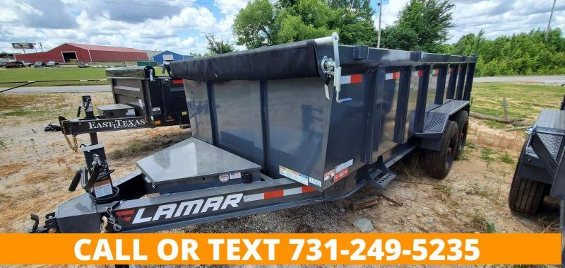 """2021 Lamar Trailers 83""""x16' Low-Pro Dump Trailer with 2-8K AXLES and 36"""" Sides"""