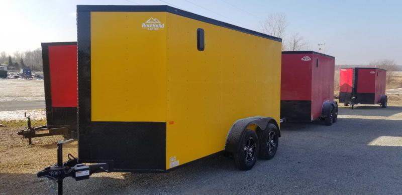 2021 Rock Solid 6' x 12' Tandem Black Out Enclosed Trailer
