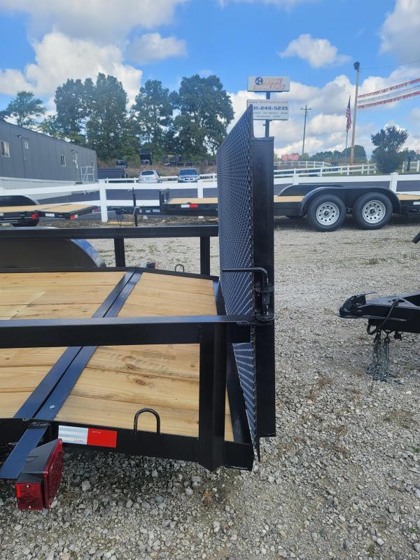 "2021 L&O Manufacturing 6'4"" x 14' Tandem Axle Utility Trailer"