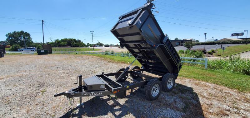 """2021 East Texas 60""""x10' Mini-Dump Trailer With 2-3.5K Axles"""