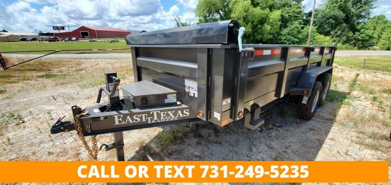 """2021 East Texas 83""""x16' Dump Trailer With 2-7K Axles and 24"""" SIdes"""