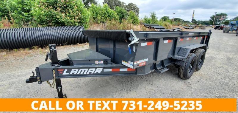 "2021 Lamar Trailers 83""x14' Low-Pro Dump Trailer with 2-7K Axles"