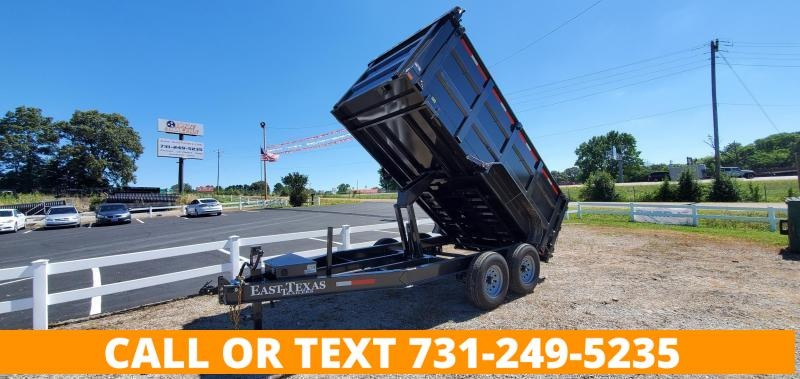 """2021 EAST TEXAS 83"""" X 14' DUMP TRAILER WITH 2-7K AXLES AND 48"""" SIDES"""