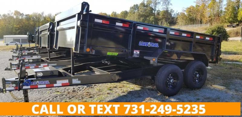 """2021 Load Trail 83"""" x 16' Dump Trailer With 2-7K Axles"""