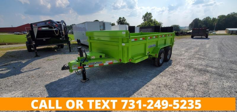 """2022 Load Trail 83"""" x 14' Dump Trailer in Safety Green"""