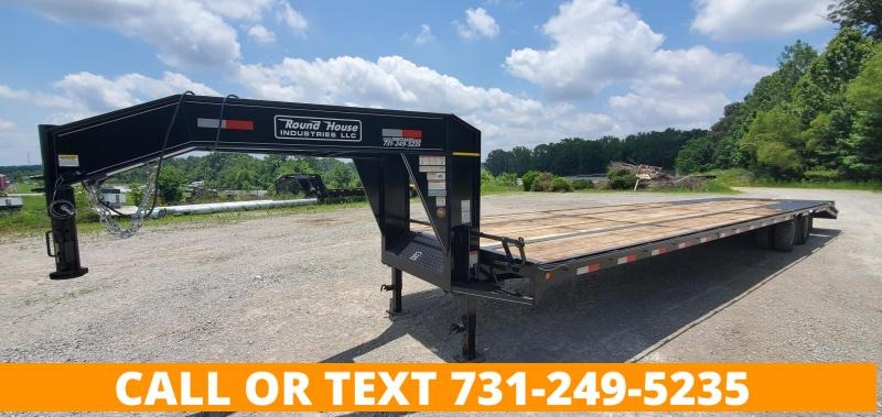 """2021 Round House Industries 102"""" x 40' Gooseneck Flatbed Trailer With 2-10K Axles"""