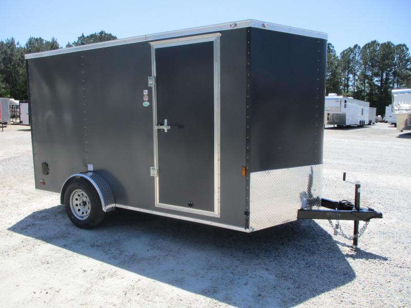 2022 Continental Cargo Sunshine 7x12 Vnose Enclosed Cargo Trailer with Ramp Door
