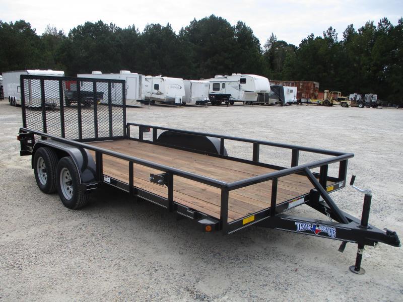 2020 Texas Bragg Trailers 16' Tandem Axle Utility Trailer
