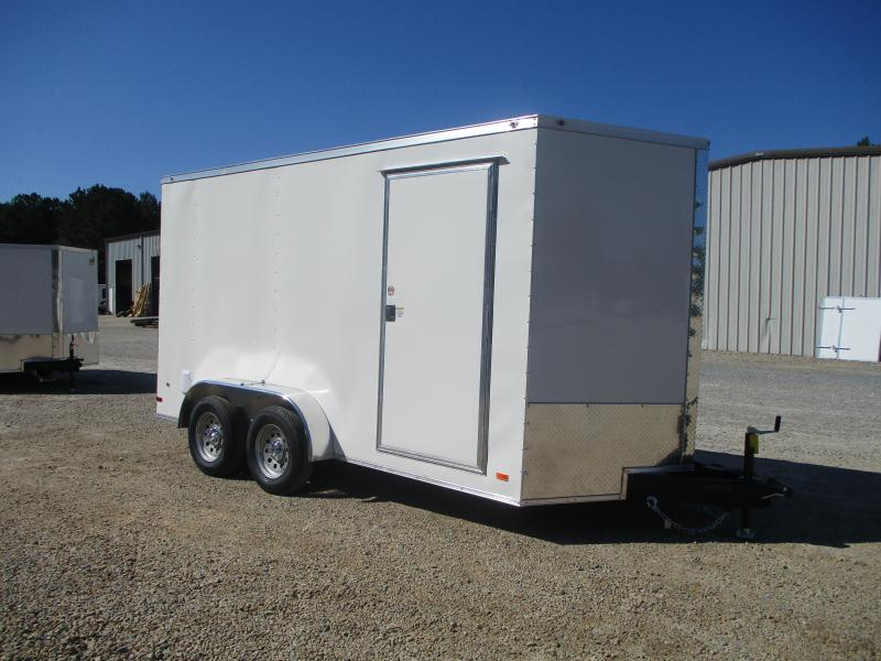 2021 Covered Wagon Gold Series 7x14 Vnose Cargo Trailer with 7' Inside Height